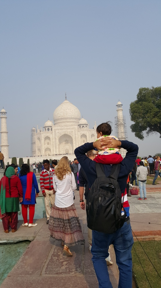 TAJ MAHAL WITH OUR SON